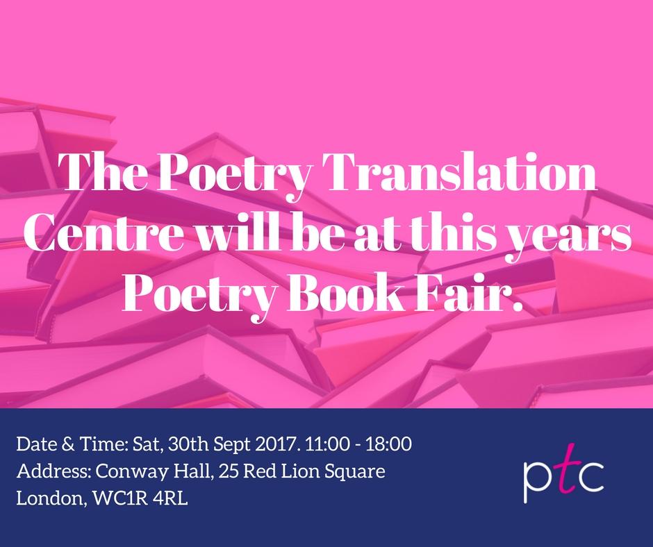 The PTC @ Free Verse: Poetry Book Fair