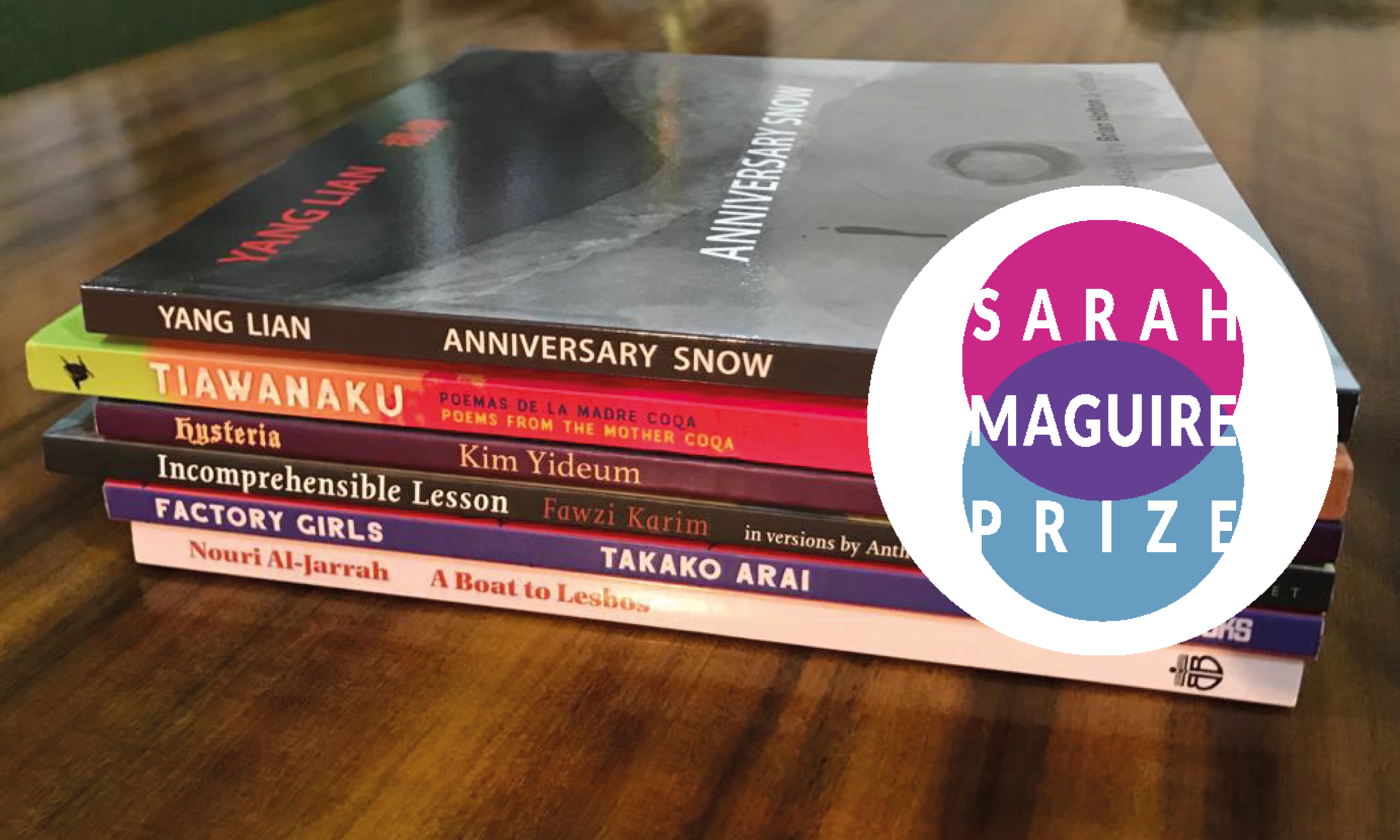 FREE EVENT - The Sarah Maguire Prize For Poetry in Translation Prizegiving