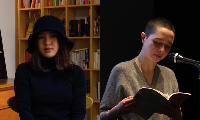 Ledbury - Yu Yoyo and A.K. Blakemore at Ledbury Poetry Festival